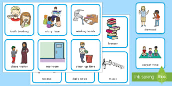 Daily Schedule Cards - Classroom Management, USA back to school, USA Beginning of School, Transitions