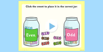 Odd and Even Sorting Activity PowerPoint - sorting, activity
