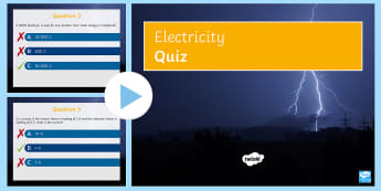 Electricity Quick Quiz - LDR, fuse, Power, voltmeter, ammeter, revision, quiz