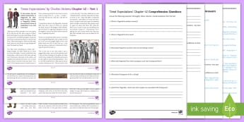 Great Expectations Chapter 42 Differentiated Reading Comprehension Activity - Great Expectations, Charles Dickens, Pip, Herbert Pocket, Magwitch, Provis, Compeyson, Miss Havisham