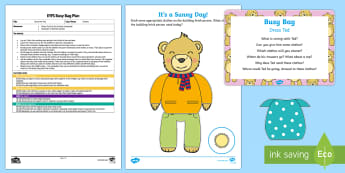 EYFS Dress Ted Clothes-Themed Busy Bag Plan and Resource Pack - dress, clothes, getting dressed, fine motor control, toddler play, pre school play