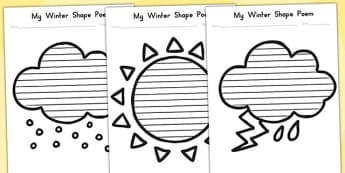 Winter Shape Poetry Temperate - poems, poem, seasons, weather