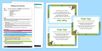 EYFS Green Grass for the Billy Goats Finger Gym Plan and Prompt Card Pack