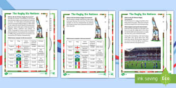 Rugby Six Nations  Differentiated Fact File - Rugby Six Nations, 4th February 2017, rugby, union, team, Championship, tournament, competition, win