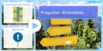 Directions PowerPoint Spanish - Spanish KS2, directions, direcciones, powerpoint,Spain, MFL, pp, ppt