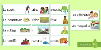 KS3 French Spontaneous Talk Topic Prompt Cards - KS3, French, Speaking, Prompt, Cards, Topic, Spontaneous, Talk, French