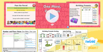 Y1 Number and Place Value One More and One Less to 20 (3) Lesson Pack - one more, one less, more, less, finding, find, year 1, year one, ks1, maths, ppt, powerpoint, add on