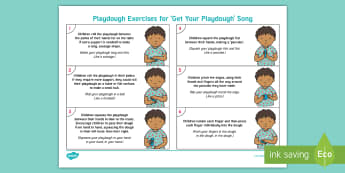 EYFS We Love Playdough Playtime Adult Guidance - Playdough Play, dough disco, finger gym, fine motor skills, physical development