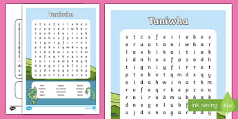 Taniwha Word Search