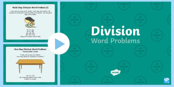 Division Word Problems PowerPoint - powerpoint, math, division, word problems