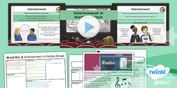 History: World War II:  Entertainment in Wartime Britain LKS2 Lesson Pack 5