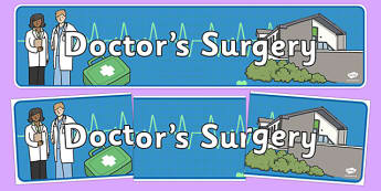 Doctor's Surgery Display Banner - Doctor, banner, role play, doctor, nurse, surgery, role play, doctors role play, people who help us role play, people who help us, Display signs, display