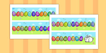 Missing Number Number Line 0-40 (Easter) - numbers, numerline, number line, missing number, easter missing numbers, easter counting activities, easter counting, missing numbers, counting, counting on, counting back, maths, numeracy