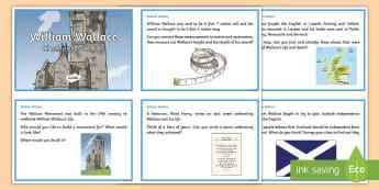William Wallace Challenge Cards - CfE Scottish Significant Individuals, William Wallace, Challenge Cards, Social Studies, Scottish War