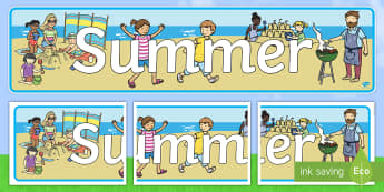 Summer Display Banner - NI, Summer, beach, sun, holiday, display, header, heading, banner, sign, seasons, weather