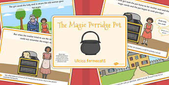 The Magic Porridge Pot Story EAL Romanian Translation Version