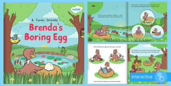 Brenda's Boring Egg eBook - duck, ducks, growth, hatch, story, beauty, appearance, ugly duckling, love, family, pond, lake, twin