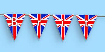 British Values Display Bunting - British Values, Display, Citizenship, KS 3, PSHE, OFSTED, DofE, britain, uk, gb