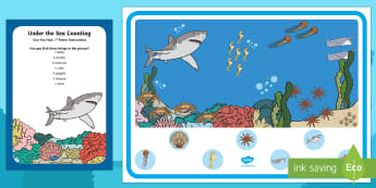 Under the Sea Counting Can You Find...? Poster and Prompt Card Pack - i spy, can you find, spotting, identify, counting, 1:1 correspondence, sea world, ocean