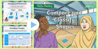 Year 4 Compare and Classify Shapes Maths Mastery PowerPoint - Reasoning, Greater Depth, Abstract, Problem Solving, Explanation