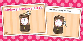 Hickory Dickory Dock Sequencing - Hickory Dickory Dock, nursery rhyme, rhyme, rhyming, nursery rhyme story, nursery rhymes, Hickory Dickory Dock resources, clock, mouse, sequencing