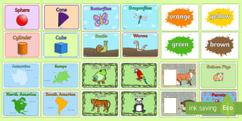 Class Group Names - - groups, signs, labels,