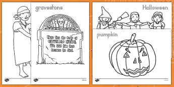 Halloween Colouring Pictures - ESL Halloween Resources