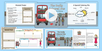 The Badly Behaved Bus: Reading for Writing Resource Pack - Story, Creative Writing, transport, KS1, year 1