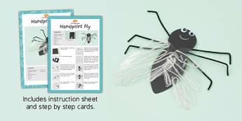 Handprint Fly Craft Instructions - craft, instructions, handprint