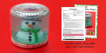 Winter Snow Globe Craft Adult Input Plan and Resource Pack