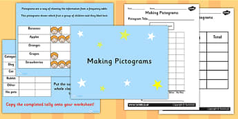 Making Pictograms Activity Pack - pictograms, numeracy, maths
