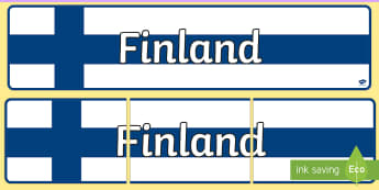 Finland Display Banner - Finland Themed Classroom Display Banner - Themed banner, banner, display banner, Classroom labels, A