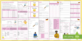 Differentiated Reference Sheets for KS3 German Grammar - Grammar, Reference, worksheet, Independent, Written Activities, Essential for Ks3, German
