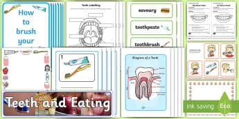 KS1 World Oral Health Day Resource Pack - oral health, teeth, mouth, brushing teeth, toothbrush, dental, dental hygiene