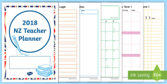 2018 New Zealand Teacher Planner Diary - planning, new zealand, plan, diary, daily plan, teacher notes, back to school