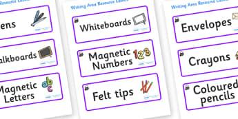 Magical Themed Editable Writing Area Resource Labels - Themed writing resource labels, literacy area labels, writing area resources, Label template, Resource Label, Name Labels, Editable Labels, Drawer Labels, KS1 Labels, Foundation Labels, Foundatio