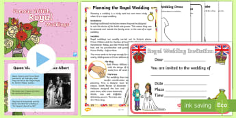 KS1 Planning a Royal Wedding Resource Pack - harry and meghan, Prince Harry's wedding, famous royal weddings, british royal family, KS1, celebra