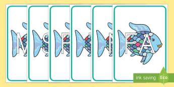 El pez arcoiris tarjetas de sílabas