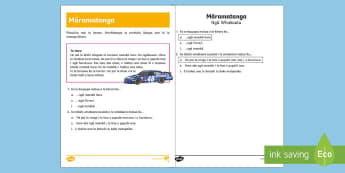 Speed Reading Comprehension  Activity Sheet - Te Reo Māori - Speed, Reading Comprehension, Activity Sheet, Horo, Cars, Vehicles, worksheet