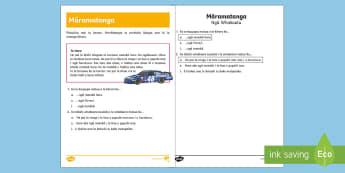 Speed Reading Comprehension  Worksheet / Activity Sheet - Te Reo Māori - Speed, Reading Comprehension, Worksheet / Activity Sheet, Horo, Cars, Vehicles, worksheet