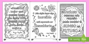 Hojas de colorear: Frases inspiracionales - Mindfulness - frases, inspiracionales, inspiración, motivación, colorear, colores, colorea, color, pintar, mindu