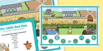The Little Red Hen Can you Find...? Poster and Prompt Card Pack