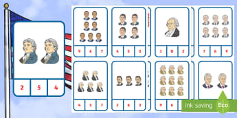 Presidents' Day Number Recognition Clip Cards Activity - KS1, Clip Cards, Number Recognition, Presidents' Day, American Presidents, American History, Social