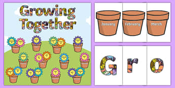 Growing Together Birthday Display Pack - birthdays, display, pack
