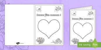 Carte avec empreinte de doigts: La fête des mères - fête des mères, fête, mères, maman, 28 mai, carte, empreintes, motricité fine, Mother's Day ca