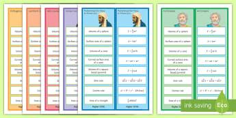 GCSE Maths Formulae Reward Bookmarks - gCSE, reward, bookmarks, formula, formulae, revision, maths