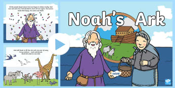 Noah and the Ark PowerPoint - Rainbow, Bible story, Important people in the Bible, dove, Raven, Primary 1, Primary 2