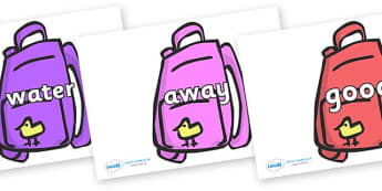 Next 200 Common Words on Backpacks - Next 200 Common Words on  - DfES Letters and Sounds, Letters and Sounds, Letters and sounds words, Common words, 200 common words