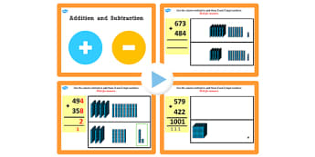 Year 3 Addition and Subtraction Lesson 3e Adding 3 and 3 Digit Numbers With Carrying Hundreds PowerPoint