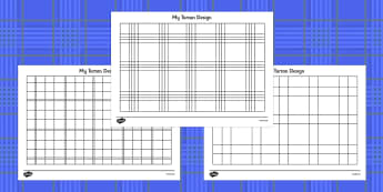 Design Your Own Tartan Colouring Sheets - Design your own tartan, tartan, pattern, design, St. Andrew's Day, Saint Andrew, patron, saint, Scotland, colouring, fine motor skills, poster, worksheet, vines, A4, display, Scottish, national day, cultures,
